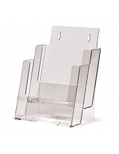 Expositor Plexiglas Sobremesa de Folletos A5 2 Compartimentos